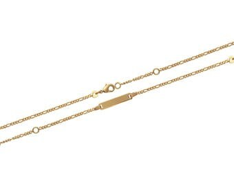 Plated mixed chain bracelet gold 15 cm / 63185315