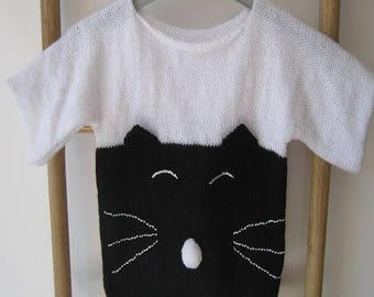 Pullover tunic child cat