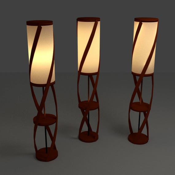 Spiral Wood Lamp