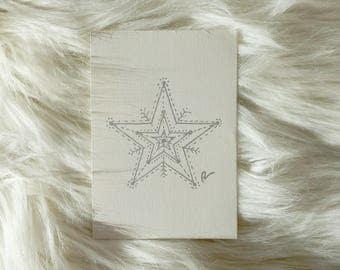 Handmade Silver Star greeting card