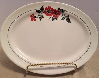 Hall Red Poppy Radiance 11 Inch Serving Platter, Vintage
