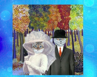 May challenge, the wedding: magnet with cats, made for each other!