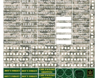 US Army Planner Stickers