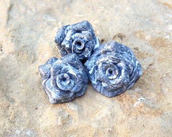 Beaded flowers * the mineral * individually