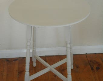 Round occasional wooden table hand painted