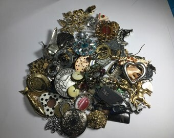 Jewelry Lot, Mixed Charms and or Pendant Pieces lot 1