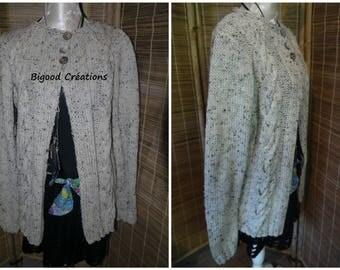 Heather beige wool vest
