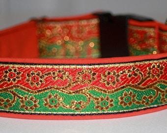 """Dog Collar Jacquard Ribbon Elegant """"Shine bright like a ribbon""""  Design"""