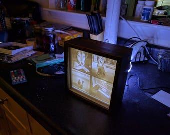 Multicolor LED Backlit Photo and Frame