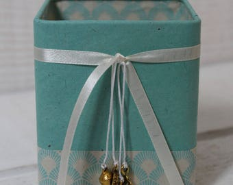 Pencil holder (No. 169) Blue celadon