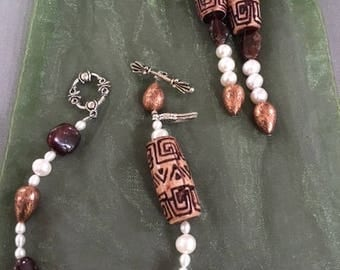 Copper and Pearl