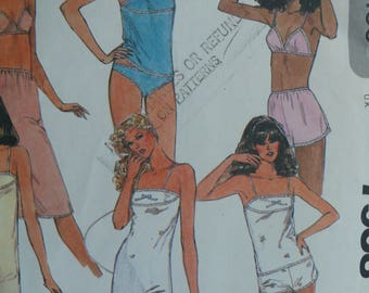 Women's Lingerie Pattern- Vintage McCall's 7958 - Sizes 10-12-14