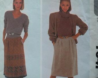 Women's, Misses' Wrap Around Skirt Pattern, Vintage McCalls 7647, Size 16
