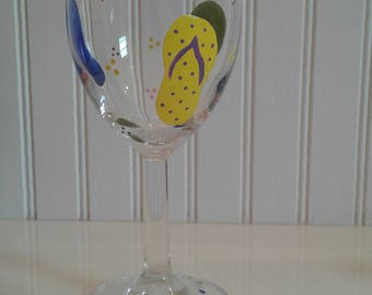 Hand Painted / Wire Wrapped Wine Glasses
