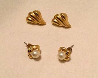 Two Pairs of Post Earrings