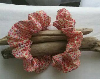 "Scrunchie Liberty ""loveday"" Orange"