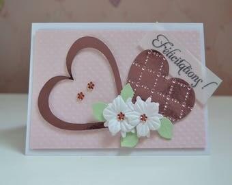 3D wedding congratulations card