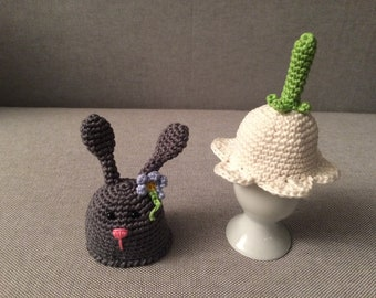 Egg warmer, 4Stück (Flower bell or bunny)