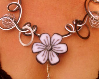 NECKLACE crazy * Sun and the flower... a love affair *.