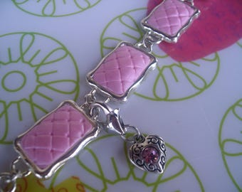 Chic bracelet * pink and silver