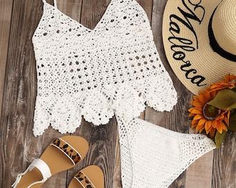 White Handmade Crochet Set