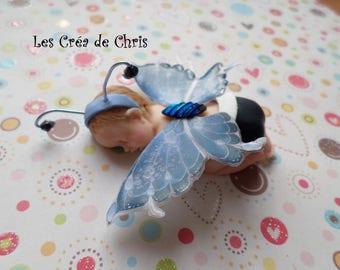 pretty little girl Butterfly Fimo.