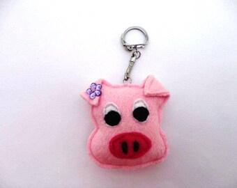 Keychain porcky pink pig