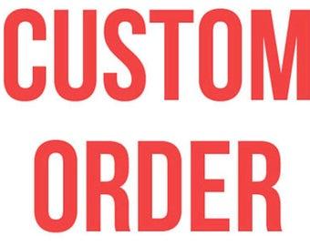 Custom clothing order sample