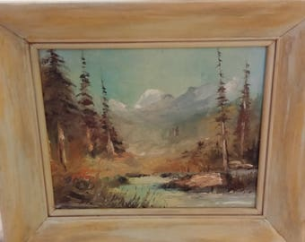 Vintage Oil on Canvas Artist Signed (J Davis) Framed Print
