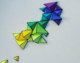 3D Geometric Paper Wall Art