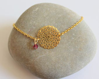 Print gold tone and Pearl Pink with highlights