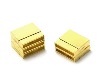 1 magnetic clasps 23 x 21 x 6 mm, 019 gold leather and cord