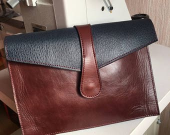 Cover 100% leather lined leather satchel bag effect