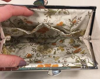 Clutch with Floral Appliqué