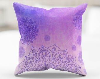 Pillow Cover - Mandala Peace (select color)