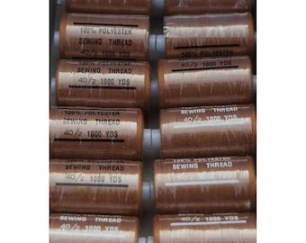 Brown polyester 1000 thread 290 yards