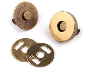 bronze 18 mm magnetic button
