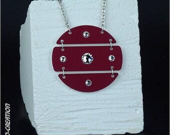 """Necklace collection SYLCO """"NOVA"""" (red/white)"""