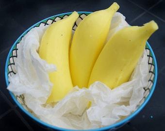 Handmade Banana Soap, Fruity Novelty Gift Soap