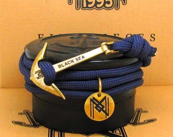 Anchor Bracelet & Necklace,Navy Paracord Unisex Bracelet. Nautical Jewelry.Sailing Gift.Nautical Rope Bracelet.Maritime Rope Bracelet.Seaman
