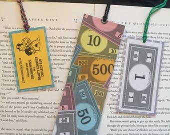 Monopoly Game Bookmarks