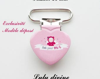 10 heart Pacifier Clips pink doll made for me from 25 mm