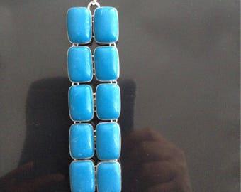 Sleeping beauty reconstituted turquoise bracelet.