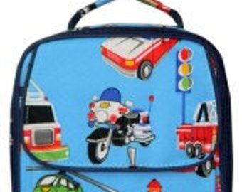 Personalized Lunch Bag Tote First Responder, Police, Firetruck, Name, Initials