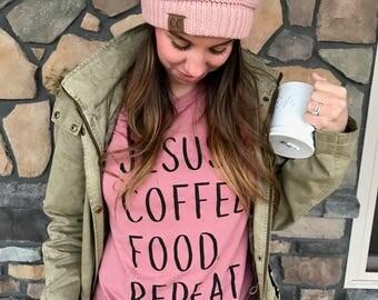 COFFEE SHIRT, friend gift, christmas gift, Jesus shirt, coffee shirt, shirt, coffee tee, mom gift, coffee shirt women, coffee tshirt, tee