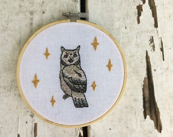 Owl Portrait 2 Embroidery