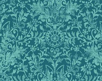 fabric Damask Teal ref: 226884 b.