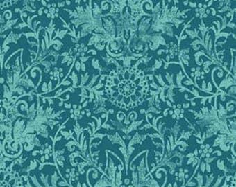 fabric Damask Teal ref: 226884 b.
