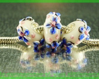 Has HQ454 European glass bead for bracelet necklace charms