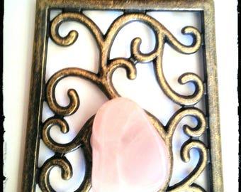 Quartz pink/jewel Quartz/jewelry/zen jewelry ethnic pendant